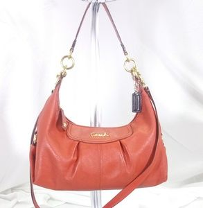 Coach Burnt Orange Leather Hobo Bag